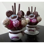 "2Pack "" Chocolate Pink "" Centro de Mesa"